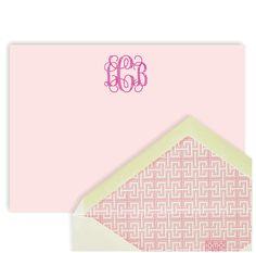 Love lined envelopes and monogrammed anything.