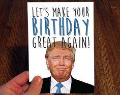 Donald Trump  Birthday Great Again by ThPrntShp on Etsy   #donaldtrump #trump #trumpgift #stationary #birthdaycard #yuge