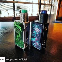 Credit to @voopootechofficial : Which One? . Credit to @officialhellvape -  Duo perfect combo   Follow @voopootechofficial .  #voopoodrag #genechip #hellvape #officialhellvape  #vapefam #vapelove for #vapetravellerteam