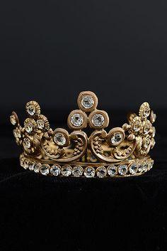 19th Century Gilt Brass Tiara