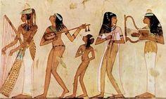 EGIPT: malowidło przedstawiające płaczki – grobowiec w Tebach
