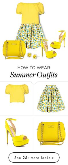"""""""Lemon Head"""" by sjlew on Polyvore featuring Glamorous, ALDO, DKNY, women's clothing, women, female, woman, misses and juniors"""