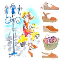 Scooting about MADRID - Spanish espadrilles at EspadrillesEtc Spanish Espadrilles, Women's Espadrilles, Designer Espadrilles, Abbot Kinney, Silver Lake, Beach Shoes, Huntington Beach, Laguna Beach