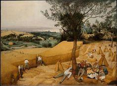 The Harvesters  Artist:Pieter Bruegel the Elder (Netherlandish, Breda (?) ca. 1525–1569 Brussels) Date:1565Medium:Oil on wood
