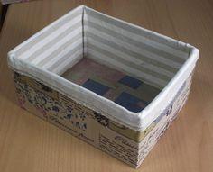 Cómo forrar una caja de cartón para la costura | Bricolaje
