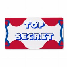 TOP SECRET label from jan4inisght -- $3.10 per sheet of 8