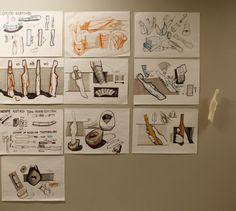 Martyna Świerczyńska (School of Form) toothbrush sketches and a foam model