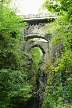 The Devil's Bridge. Where Marged tricked the Devil.   http://www.amazon.co.uk/Welsh-Legends-Myths-across-Wales-ebook/dp/B00723672S/ref=la_B005WTLIQ4_1_1?s=books&ie=UTF8&qid=1423915661&sr=1-1