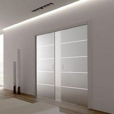 Eclisse Patterned Glass Sliding Pocket Door System - Double Door Kit - Supplied With Glass Doors - Finished Wall Thickness - March 04 2019 at Glass Pocket Doors, Sliding Pocket Doors, Double Glass Doors, Sliding Glass Door, Interior Pocket Doors, Interior Barn Doors, Spa Interior, Exterior Doors, Interior Design