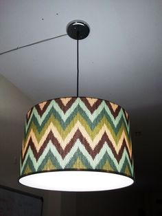 Chevron pendant drum shade by CMB Designs Lamps and Shades, Trinidad.