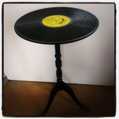 Up-cycled Vinyl Side Table £25.00