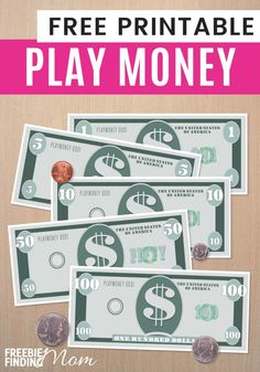 Play Money Template - printable play money dadsworksheets oh yes the dream of just being able to print money while these realistic money printables ar. Templates Printable Free, Free Printables, Fake Money Printable, Play Money Template, Bill Template, Classroom Money, Classroom Economy, Money Activities, Teaching Activities