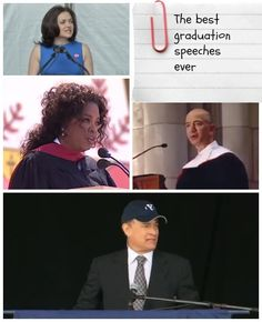 Tis the season for enlightenment at convocations. Check out the best graduation speeches ever to give inspiration to everyday life.