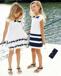 Navy and white