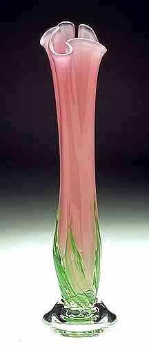 Blown Glass Vase - Hand Blown Vase - Blown Glass. Beautiful! Modern, yet retro.