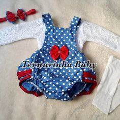 Jardineira Bunda Rica Galinha Pintadinha (3 itens) Baby Dolls, Kids Outfits, Rompers, Sewing, Crochet, Dresses, Fashion, Infant Girl Fashion, Kid Outfits