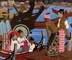 ernest procter | The Embarkation 1920s Painting by Ernest Procter - The Embarkation ...