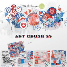 artCrush No 29 is about Freedom, 4th of July and Canada Day. Red, Blue and white dominates this Collection. A total untypical collection and colors for me as a European Designer. Nevertheless I took the challenge to create this 5 pack collection. Enjoy it!. I love those artsy state stamps the most on this collection. #digiscrap #scrapbooking #mixedmedia #artjournaling #cardmaking #hybridscrap #quote #quotes #scrapbookingideas #nbk_design #the_lilypad #artsy #photobook #fotobuch