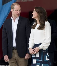 The devoted couple exchanged a loving glance as the arrived at the park where the London Olympics were held in 2012