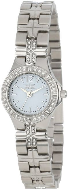 #Invicta #Watch ,  Invicta Women's 0126 II Collection Crystal Accented Stainless Steel Watch