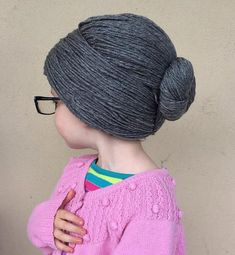 Crochet Patterns Funny Granny Wig Yarn Wig Old Lady Hat Granny Hair Bun by YumbabY Granny Wig, Funny Baby Costumes, Yarn Wig, Diy Wig, Knitted Hats, Crochet Hats, Accessoires Photo, Wig Hat, Womens Wigs