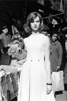 Jean Shrimpton photographed by David Bailey in NYC, 1962.