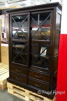 Bayside Furnishings Glass Door Bookcase Costco Frugalhotspot Costco Get Back In Stock