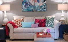 Colorful Contemporary Living Room - Get The Look | Wayfair