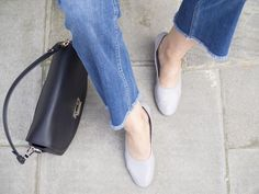Grey Topshop Juno shoes + cropped flared denim = my new favourite combination!   Outfit post on The Online Stylist blog  