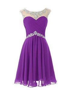 DRESSTELLS Short Prom Dresses Sexy Homecoming Dress Chiffon Birthday Party Dress Grape Size >>> Details can be found by clicking on the image. (This is an affiliate link) Sexy Homecoming Dresses, Hoco Dresses, Junior Dresses, Dance Dresses, Evening Dresses, Formal Dresses, Prom Dress, Dress Party, Prom Party