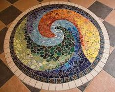Image result for glass mosaic ideas