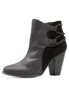 Qupid Strappy Ankle Booties | Charlotte Russe