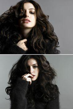 voluminous curls l anne hathaway.