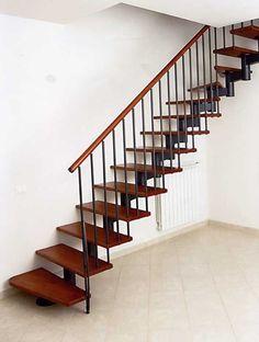 Escaleras de madera aluminio cristal 101 ideas Pinterest