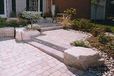 Front Entrance Wide Walkway - Landscape Design by Hogan Landscaping Toronto