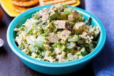Easy Crunchy Tofu Salad #vegan (reminiscent of chicken salad)