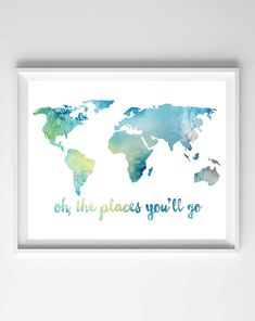 Rustic World Map Poster Vintage Map Of The World Printed Canvas - 8x10 printable world map