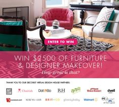 WIN $2500 WORTH OF FURNITURE AND A DECORIST MAKEOVER