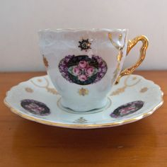 Vintage - Antique -Tea Cup and Saucer - Kuno Steinmann - K St. T Sileria - Pretty Floral Tea Set AU$40
