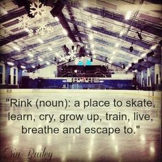 Hockey , a way of life - sexycoolvibes Hockey Girls, Hockey Mom, Ice Hockey, Ice Skating Quotes, Figure Skating Quotes, Skating Rink, Roller Skating, Quad, Skating Pictures
