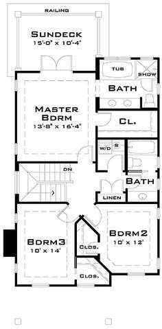Plan TD Award Winning Narrow Lot House Plan