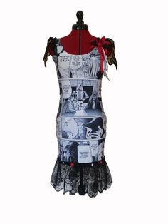 Star Wars Comic Book Upcycled Bodycon Dress by FeedTheDogCreations