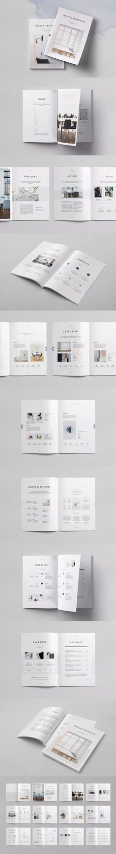 Proposal Template InDesign INDD A4 and US Letter Size Proposal - proposals templates