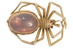 Vintage Opal Spider Brooch on OneKingsLane.com