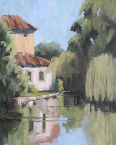 Windows on the River by Lesley Powell Oil ~ 30 x 24