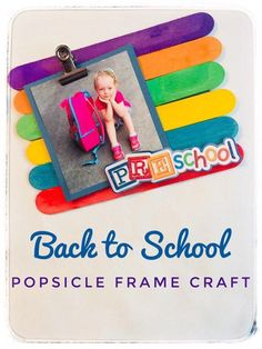 Display those cute first day of school pictures with this easy back to school popsicle stick frame craft. It is so quick to make and the kids will love seeing their photo displayed. Makes a great gift for grandparents! First Day Of School Pictures, 1st Day Of School, Pre School, Preschool Pictures, Crafts With Pictures, Preschool Activities, Easy Preschool Crafts, Free Preschool, Free Pictures