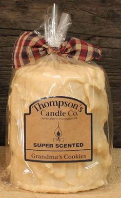 "Thompson's Candle Co Super Scented MED (18 oz) Pillar 80 Hrs ""Grandma's Cookies"" #ThompsonsCandleCo"