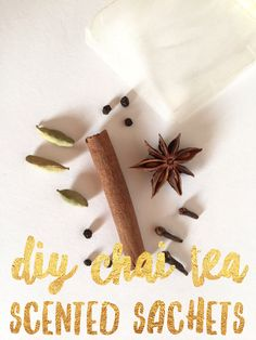 Make these easy DIY Chai Tea Sachets and a delicious alternative to Essential Oils. Perfect for your car, dresser drawers and cute enough to give as a gift. Repin and Save this simple craft by Pop Shop America!