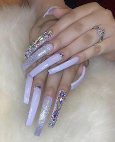 prom dress makeup nail design nail art designs nail makeup nail art nailart hansen chrome nail makeup inc nail makeup hansen chrome nail makeup blue prom dress makeup nail design Bling Acrylic Nails, Aycrlic Nails, Best Acrylic Nails, Bling Nails, Swag Nails, Toenails, Stiletto Nails, Exotic Nails, Nail Art Designs