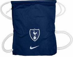 Nike Tottenham Hotspurs Gymsack. Shop for yours at www.soccerpro.com Shirt Sale, Tottenham Hotspur, Jersey Shirt, Drawstring Backpack, Blue And White, Soccer Jerseys, Athletic, Backpacks, Nike